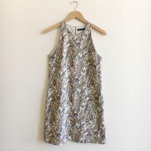 Zara Brocade Mini Dress